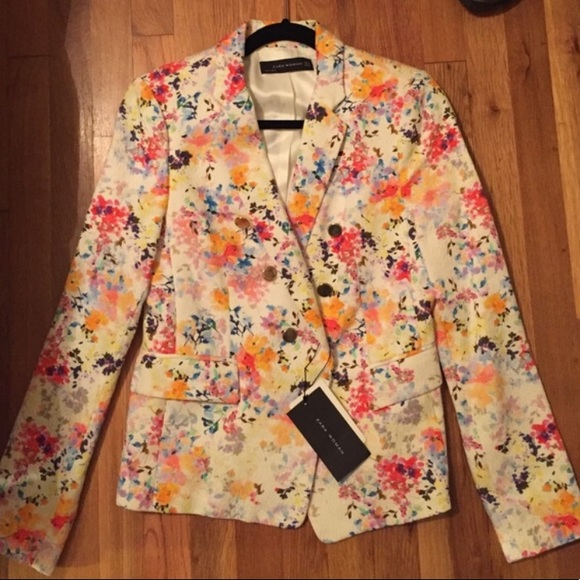 Zara Jackets & Blazers - Zara floral blazer szM never worn NWT